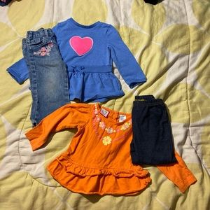 Bundle of 2 babygirl matching outfit